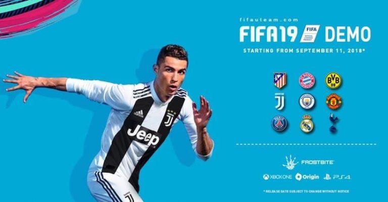 Demo de FIFA 19 será disponibilizada no dia 11 de setembro 1