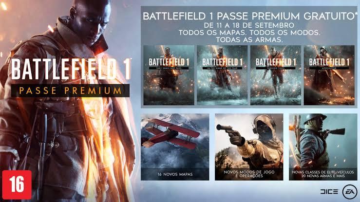 Passe Premium de Battlefield 1 está gratuito | jogo a 19 reais na PS Store