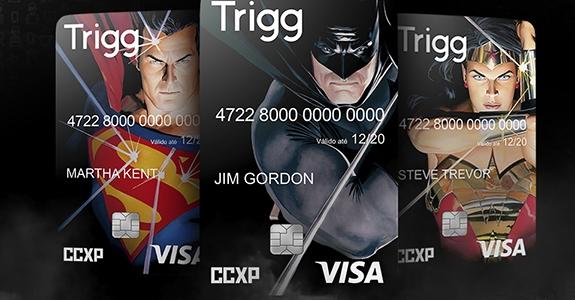 Trigg lança cartão com os heróis da DC e é o meio oficial de pagamento da CCXP