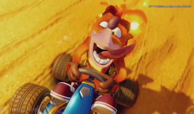 Anunciado no Video Game Awards Crash team Racing Nitro