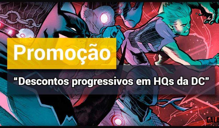 Campanha Complete Sua Coleção, com HQs da DC Comics, traz desconto progressivo na loja on-line da Panini