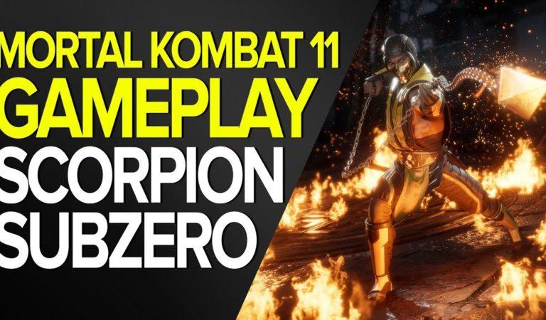 Gameplay de Mortal Kombat 11 com Scorpio x Sub-Zero no Xbox One X em 4K