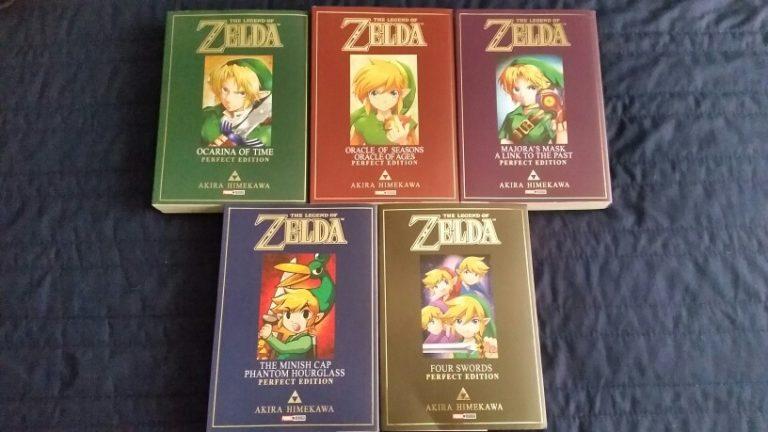 Unboxing da coleção completa dos mangás de Zelda 1