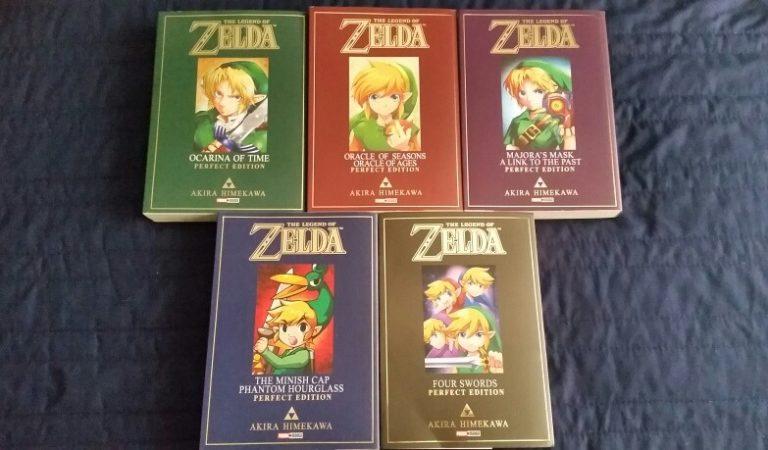 Unboxing da coleção completa dos mangás de Zelda