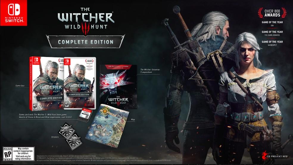 The Witcher 3 será distribuído de forma oficial pela Warner Bros em mídia física para  Switch no Brasil