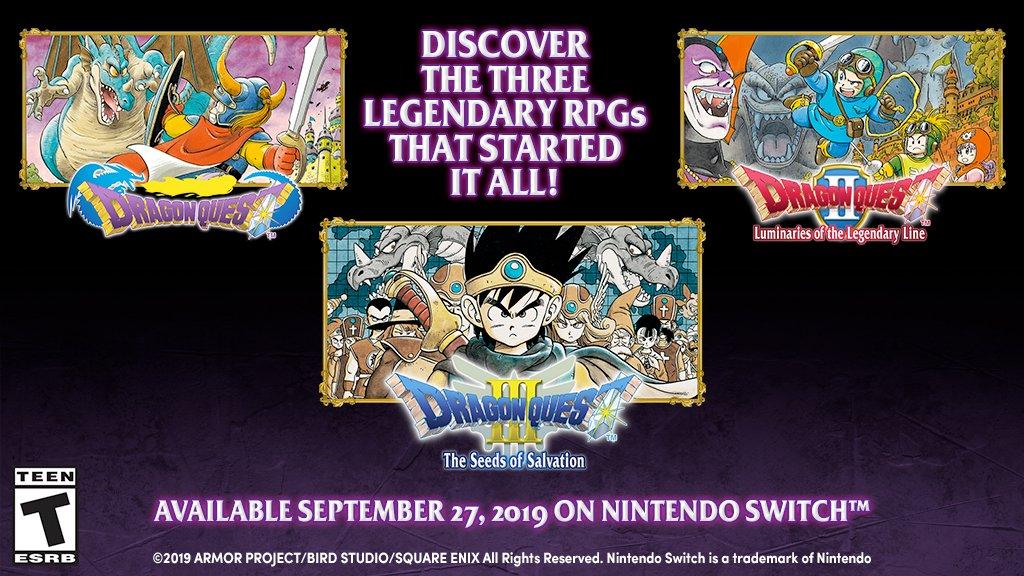 Dragon Quest I, II e III são anunciados oficialmente para o ocidente