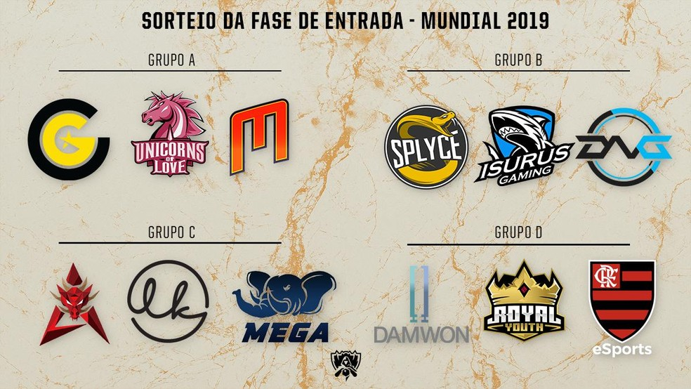 Flamengo cai em grupo difícil no mundial de LoL