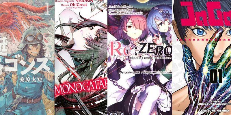 Caçando Dragões, Bakemonogatari e Re:Zero Capítulo 2 são os novos títulos da PANINI