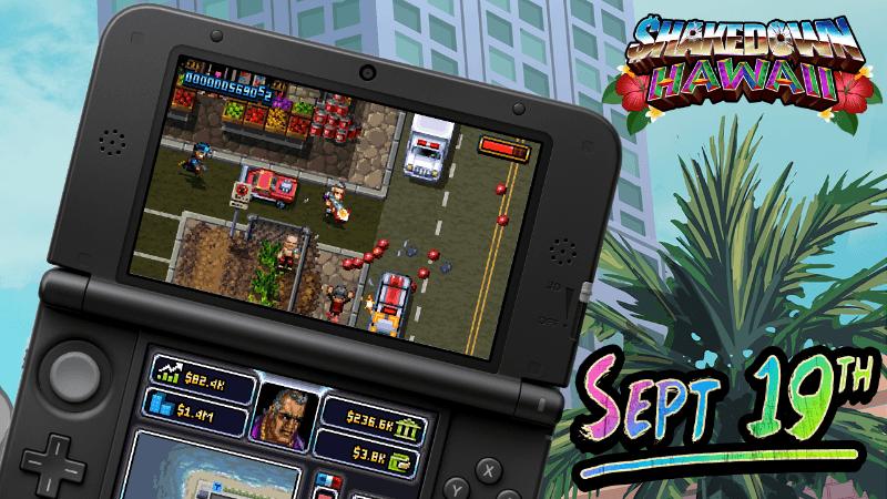 SHAKEDOWN: HAWAII chega ao Nintendo 3DS Quinta-feira, 19 de setembro nas Américas(26 de setembro na Europa)