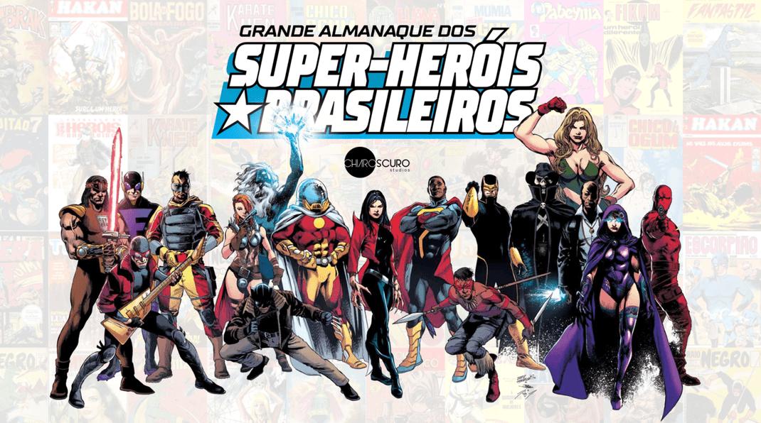 Grande Almanaque dos Super-heróis Brasileiros | Enciclopédia terá participação de artistas da Marvel e DC Comics