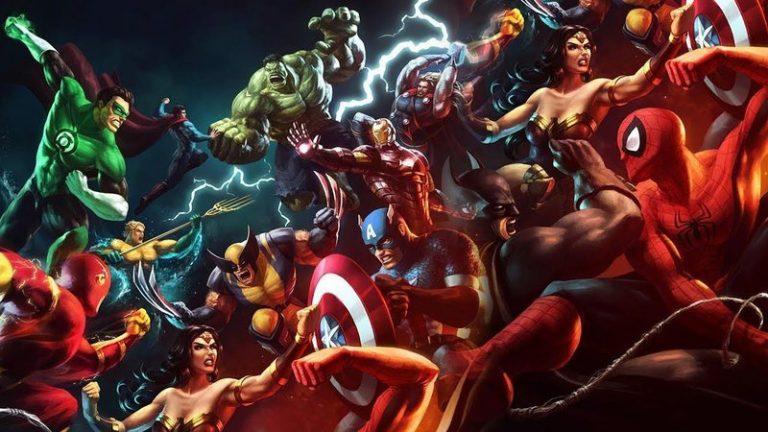 Livro ilustrado 80 anos de Marvel