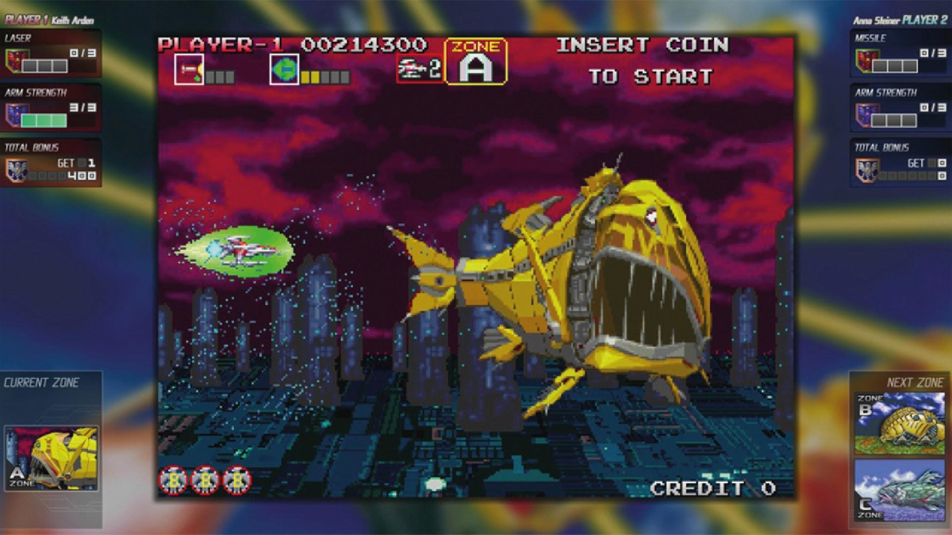 Classico dos Arcades; Darius está de volta em duas coletânias incríveis 1