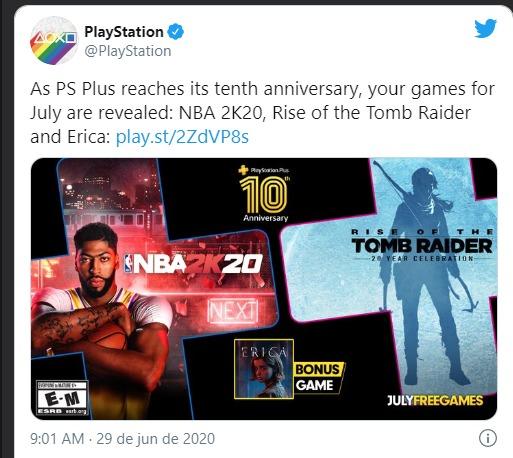 Em comemoração aos seus 10 anos, PS Plus terá jogo extra no mês de julho 1