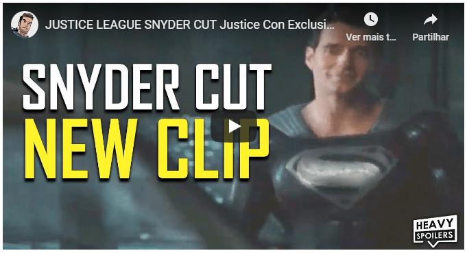 Snyder Cut | Superman aparece com o uniforme preto em vídeo liberado no evento  Justice Con 4
