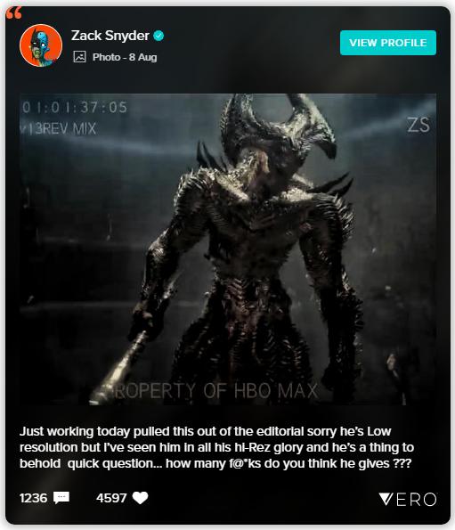 Snyder Cut  | Diretor revela novo visual do Lobo da Estepe 4