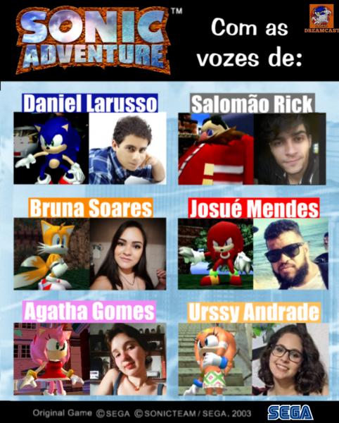Sonic RJ mostra o rosto, e dublará Sonic em Sonic Adventure / SADX no projeto feito por fãs. 3