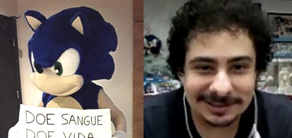 Sonic RJ mostra o rosto, e dublará Sonic em Sonic Adventure / SADX no projeto feito por fãs. 1