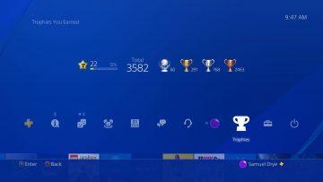Novo sistema de troféus da PSN