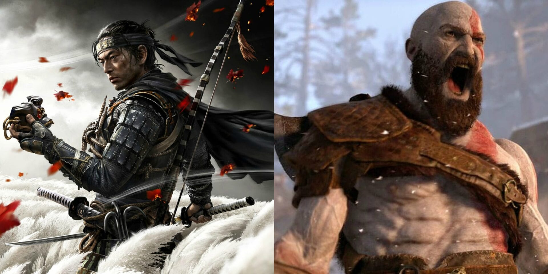 God of War e Ghost of Tsushima vendas