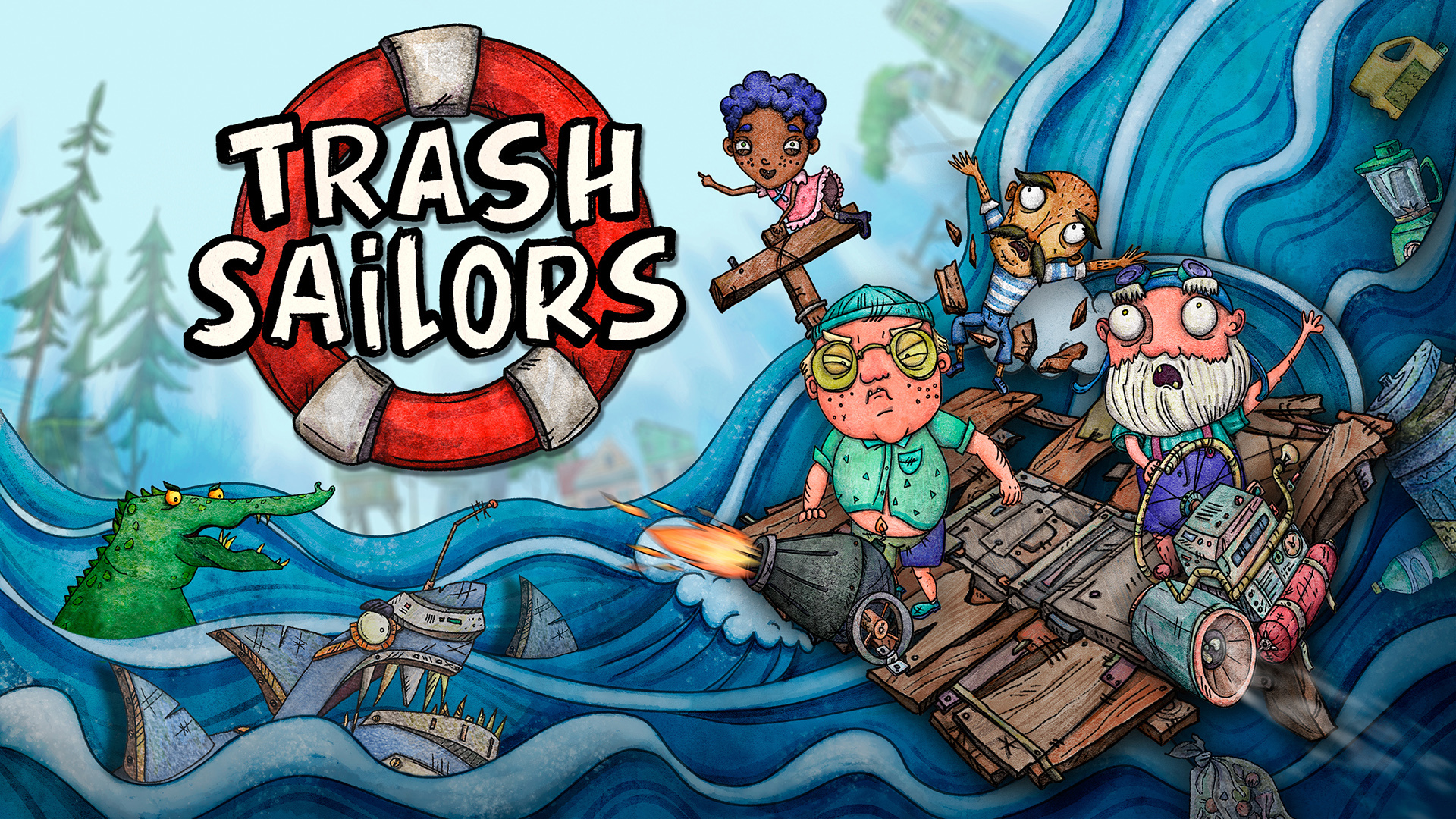 Trash Sailor é anunciado finalmente para Nintendo Switch 1