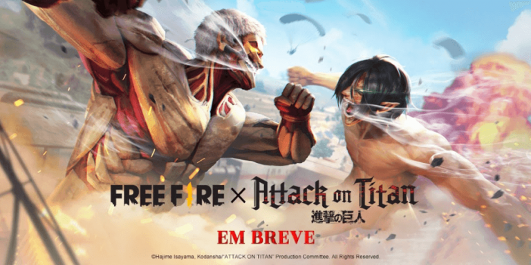 Free Fire anuncia crossover com Attack on Titan
