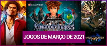 Lançamento de jogos em março de 2021
