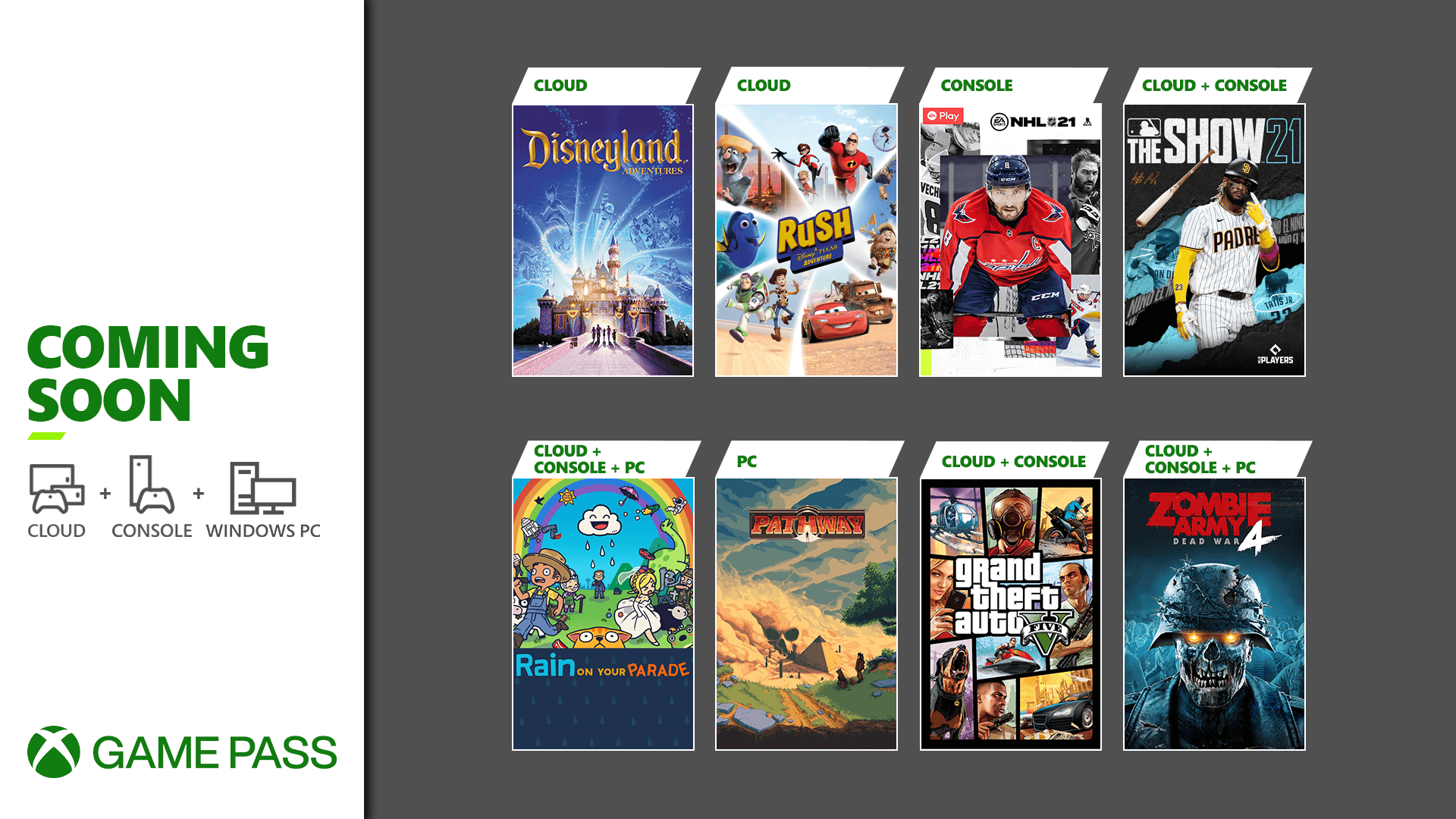 Xbox Game Pass abril 2021