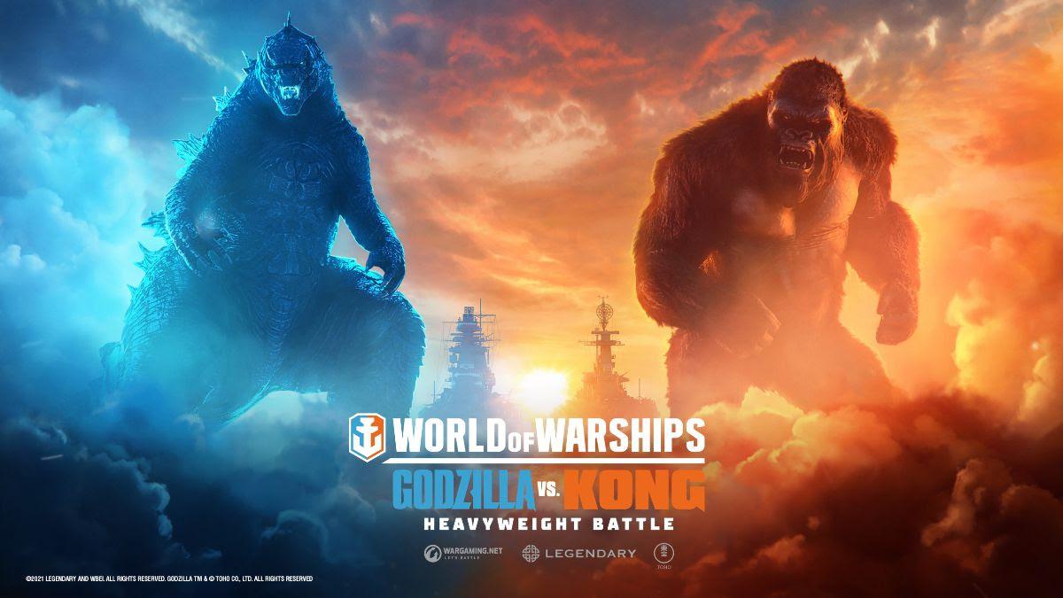 Godzilla e Kong em World of Warships
